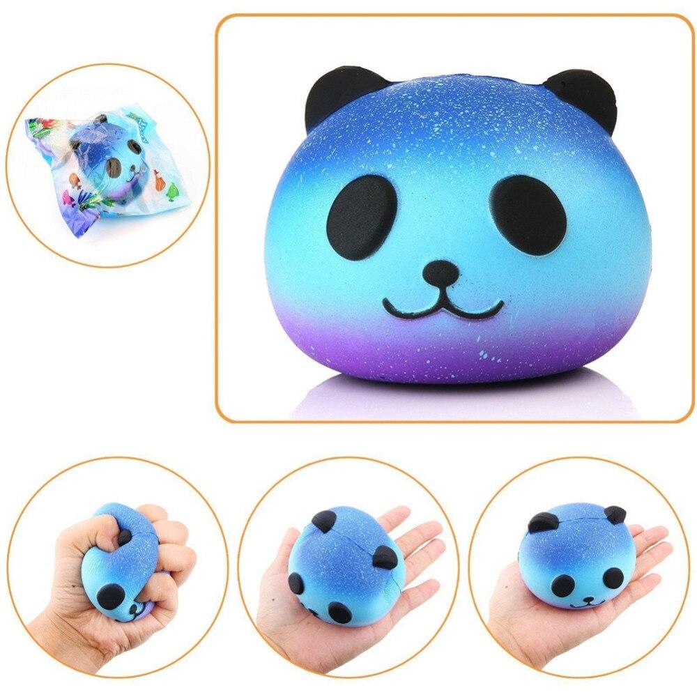 8cm kawaii colorful panda face plushies plush bear animals kids toys