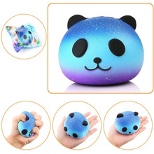 Jumbo 8CM Kawaii Emoji Colorful Face Panda Squishy Bread Slow Rising Fun Kid font b Toy