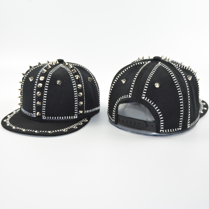 2018 Korean version of the tide caps rivet baseball flat edge children's personalized street show stage hip hop buddy c