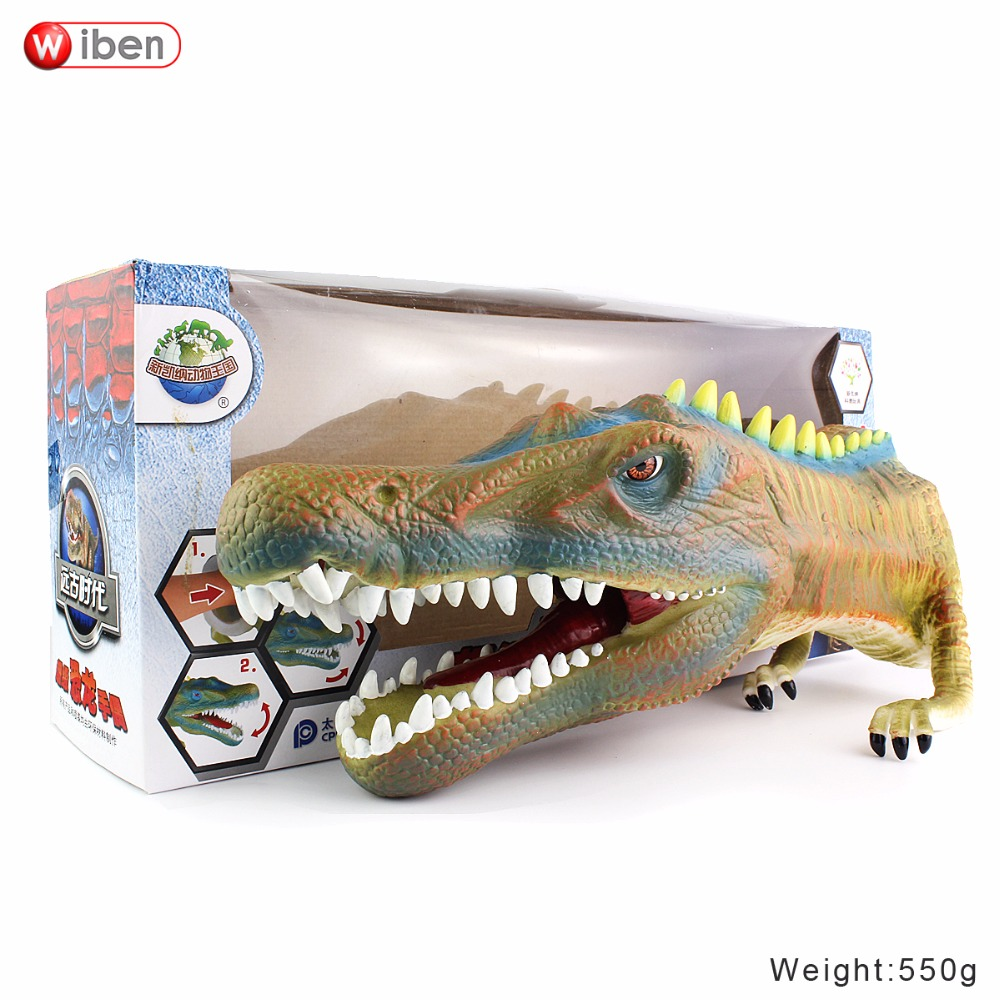 Wiben Dinosaur Hand Puppet Figure Toys Quality Soft Vinyl PVC Classic Children Toy Model Gift 1pc saichania dinosaur action figure toys hand puppet kids educational model 28 319