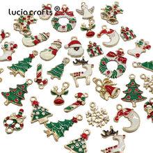 Pendentif de noël créatif en métal, 13 ou 19 pièces, artisanat de décoration pour arbre de noël, cadeau pour enfants, H0250