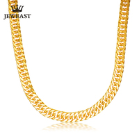 24K Pure Gold Necklace Real AU 999 Solid Gold Chain Good Gifts Man's Upscale Trendy Classic Party Fine Jewelry Hot Sell New 2018