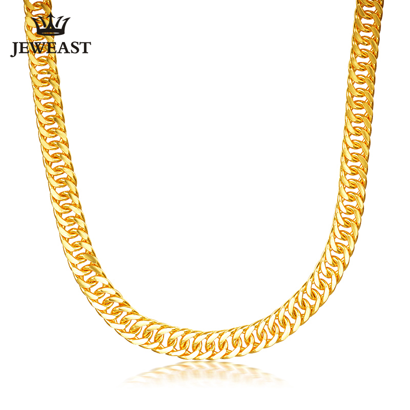JJF 24K Pure Gold Necklace Real AU 999 Solid Gold Chain Good Gifts Man's Upscale Trendy Classic Fine Jewelry Hot Sell New 2020