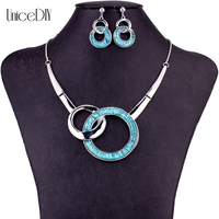 MS1504727 Fashion Jewelry Sets High Quality Necklace Sets For Women Jewelry Silver Plating Alloy Unique Round