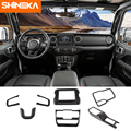 SHINEKA Car Stickers For Jeep Wrangler JL 2018 Carbon Fiber Car Interior Decoration Cover Kit Accessories For Jeep Wrangler 2019