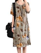 2019 New Yfashion Women Elegant Charming Loose Printing Casual Dress vestidos Top Quality
