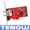 Tarjeta TBS TBS6281SE DVB-T2/T/C TV Tuner Card PCIe Disfrutar de FTA/Pay-TV Digital Terrestre/Cable de TV y Radio Estéreo Digital en PC