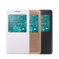 Original Samsung Alpha G850 Leather Flip Cover Case Smart Sleep Wake Up View Phone Cases For