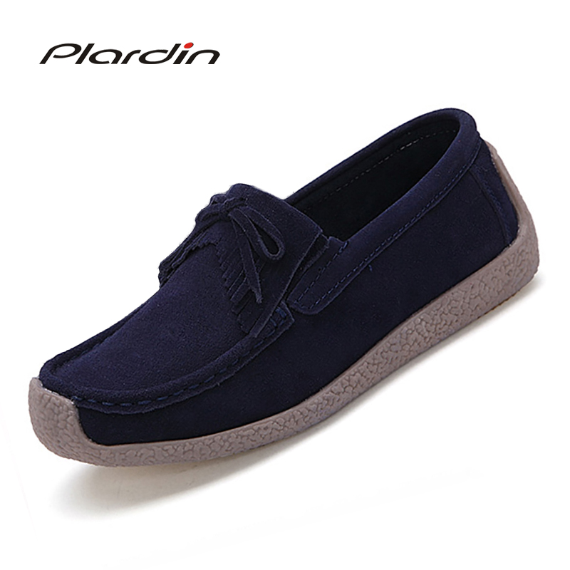 Plardin 2018 Ballet Women Square Toe Genuine Leather Fringe Shoes Flats Flexible Casual Fashion Pregnant Shoes Woman Boat Shoes стоимость