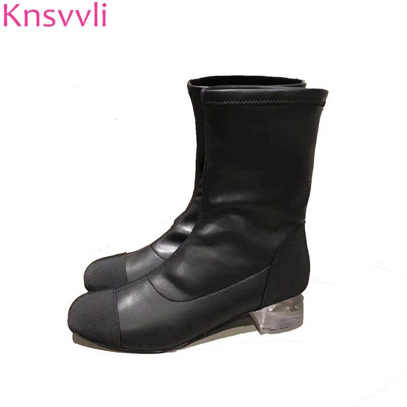 0477eb978 Mujeres Adelgaza Talones Leather Rodilla Mujer Short Sobre Botas De ...