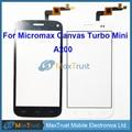 """Высокое Качество 4.7 """"Для Micromax Canvas Turbo Mini A200 Сенсорным Экраном Дигитайзер Передняя Стеклянная Панель Датчик Черный Белый Цвет"""