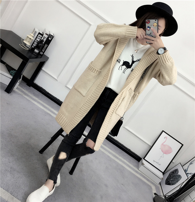 HTB1FtFMSVXXXXaNXFXXq6xXFXXXB - Women Long Knitted Sweater Coat Hooded Sweater Cardigans JKP039