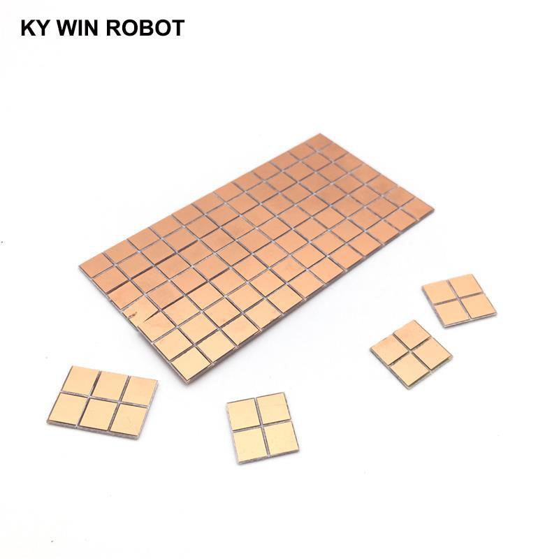 20pcs FR4 PCB 6.5*7mm Double Side Copper Clad Plate DIY PCB Kit Laminate Circuit Board 0.65x0.7cm 6.5x7x1.0mm