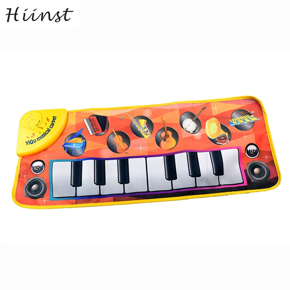 HIINST drop ship New Touch Play Keyboard teclado Musical Music Singing Gym Carpet Mat Be ...