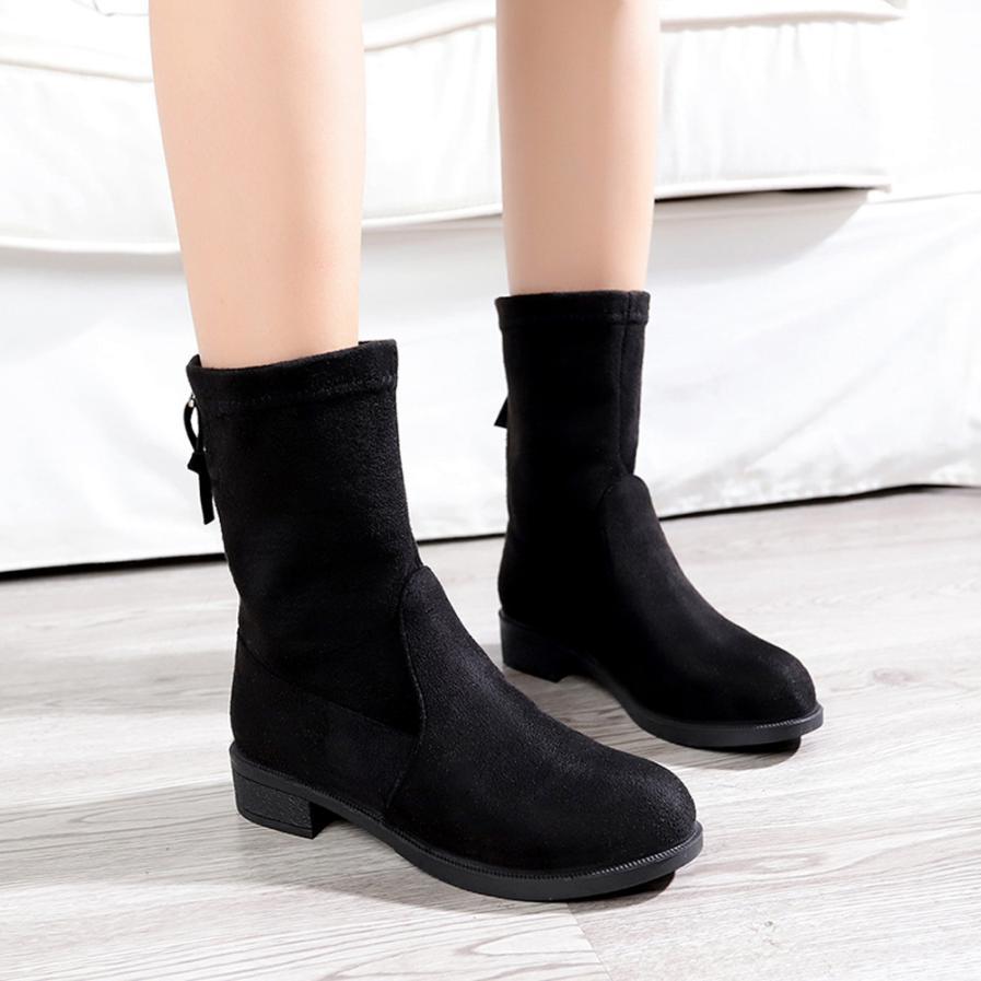 Короткие сапоги без каблука фото
