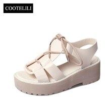 COOTELILI Summer Women Gladiator Sandals Platforms Ankle Str