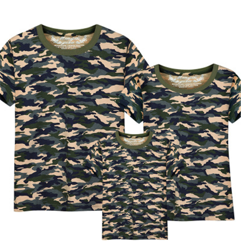 Family Clothing family matching clothes Camouflage  T-shirt+Camouflage shorts Children Matching Outfits