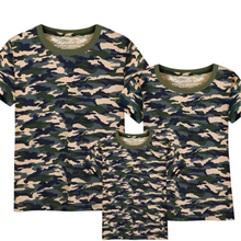 Family Clothing family matching clothes Camouflage   T-shirt+Camouflage shorts Family Children Matching Outfits