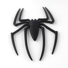 BARBEKÜ @ FUKA 3D Örümcek Metal Amblemi Logosu Araba Kamyon Motor Çıkartması Rozeti Sticker Için Fit ILX MDX A5-8 Quattro q7 TT Quattro 320i 550i