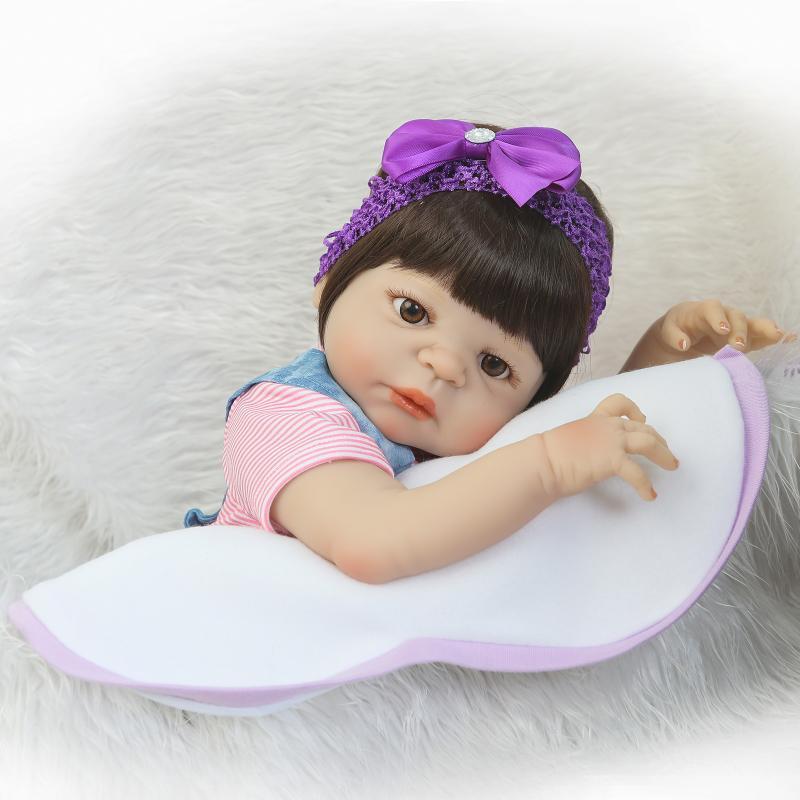 Kawaii Renacido Bebés 22 pulgadas de Cuerpo Completo de Silicona - Muñecas y accesorios - foto 4