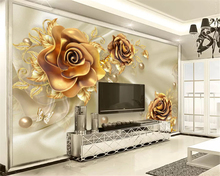beibehang Custom silky classic stereo wall paper 3D soft bag jewelry flower TV background papel de parede 3d wallpaper