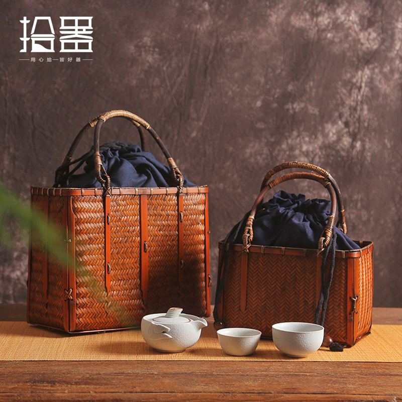 Unique Summer 2019 Luxury Handbags Women Bags Handmade Bamboo Beach Bag Bamboo Basket Travel Tote Organizer Storage Box Purse