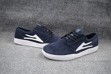 Size 5 10 Teenagers skateBoard Shoes LAKAI DARK blue Anti Fur Boy Hard Wearing Deck Shoes