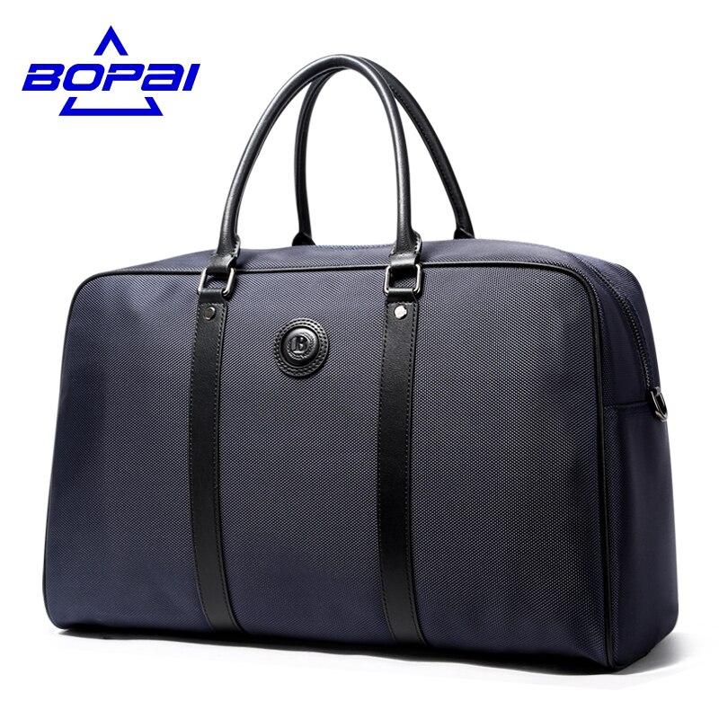 BOPAI 2017 Business Men Travel Totes Bag Large Waterproof Oxford Men Shoulder Travel Bag Formal ...