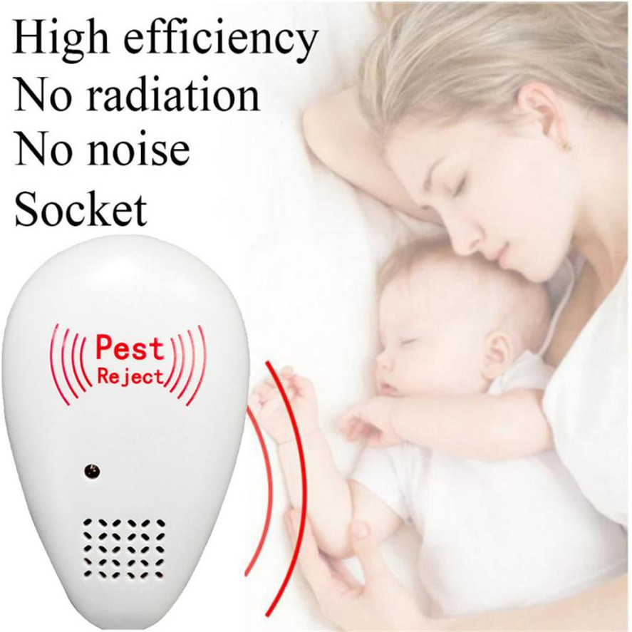 High Quality Mosquito Repeller 1pc Ultrasonic Pest Reject Electronic Magnetic Repeller Anti Mosquito Insect Reject 35