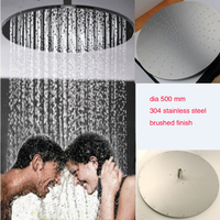 Europe Style Shower Accessories 20 Inches Large Size Ceiling Mounted Overhead Rain Shower Stainless Steel Outdoor Shower Head
