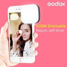 Godox M32 LED Selfie Smart Clip flash speedlite with Bulit in Li ion Battery Brightness Adjustable for iPhone Xiaomi