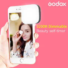 Godox M32 LED Selfieสมาร์ทคลิปแฟลชSpeedliteแบตเตอรี่Li Ionความสว่างสำหรับiPhone Xiaomi