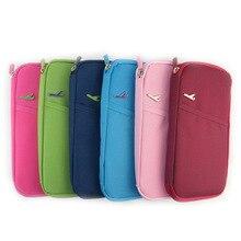 Handväska Bärbara resväskor till telefonpasset Bankkortfakturaväska flera användarbehållare