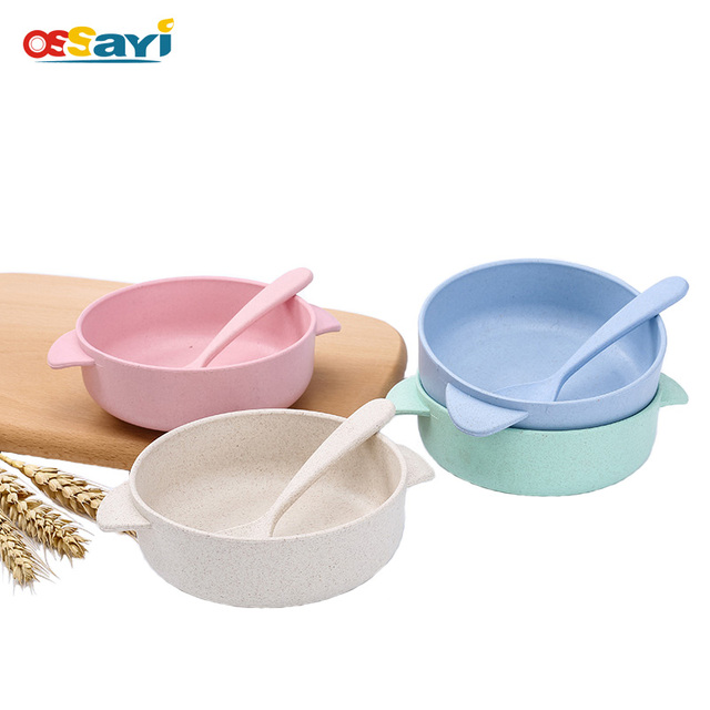 1pcs Bowl Wheat Straw Tableware Cute Candy Color Biodegradable Thicker Children Reliable Bowl With Spoon Family  sc 1 st  AliExpress.com & 1pcs Bowl Wheat Straw Tableware Cute Candy Color Biodegradable ...