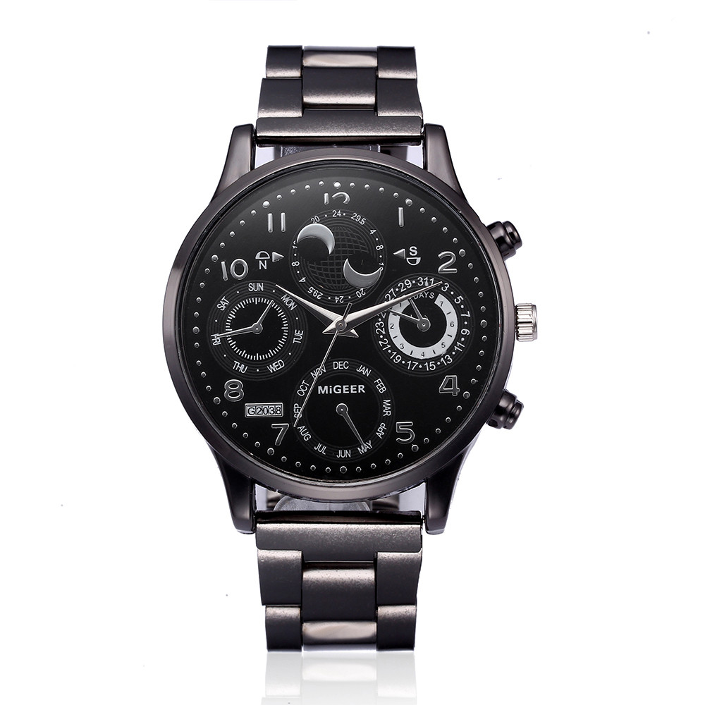 NEW Watch Men Crystal Stainless Steel Quartz WristWatch Horloges Mannen Saat Montre Horloges Mannen Orologio Uomo Relgio Reloj