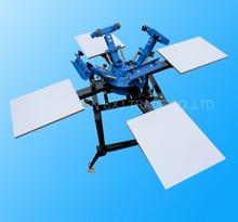 1Set 4 Color 4 Station Screen Printing Machine Comeswith Base Good Quality T-shirt Printing Machine