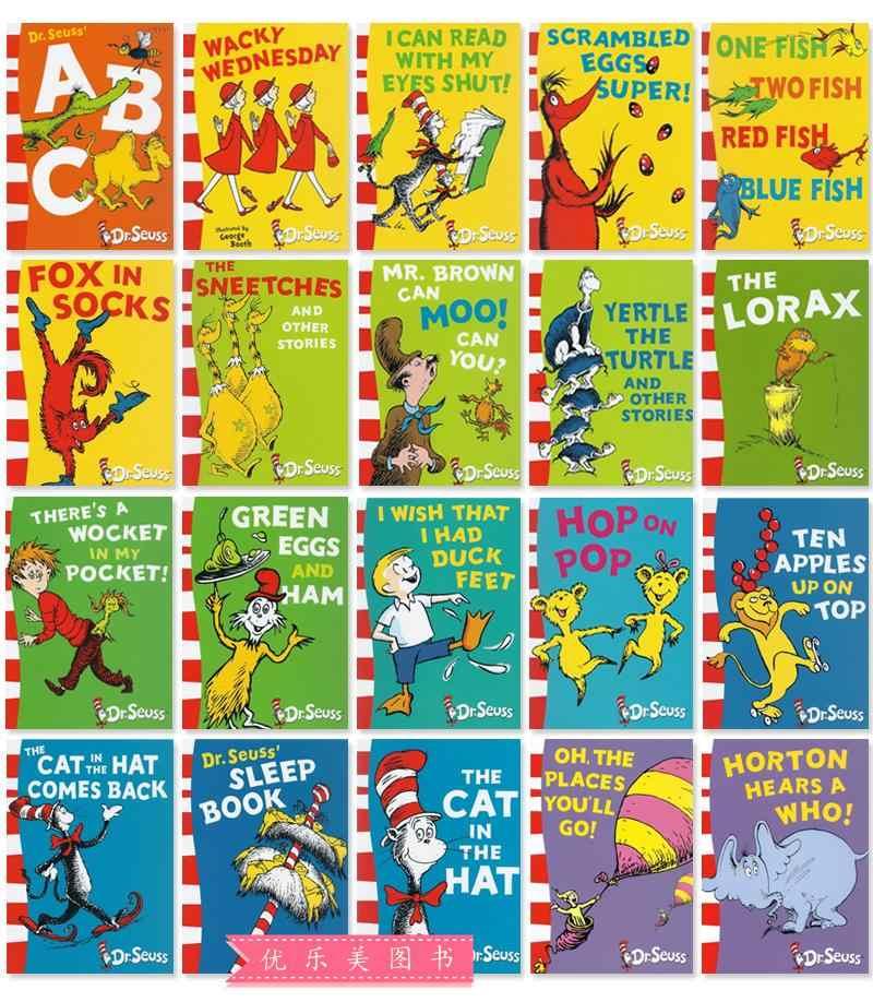 10 stks/set De Prachtige Wereld van Dr Seuss kinderen verhaal boeken kids kind kinderen speelgoed gift, engels verhaal boek (20 boeken)