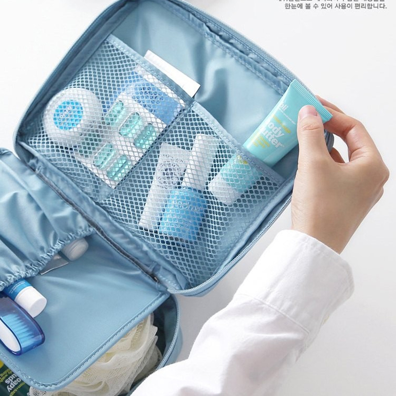 Make Up Bag Organizer Portable Folding Makeup Bag Multi layer Mesh Travel  Storage bags for Cosmetic Brush Bathroom Toiletry-in Storage Bags from Home  ... e40abde39c005