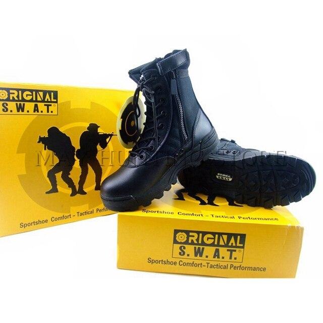 US $29.2 20% OFF|DUTOLE Taktische Stiefel Swat Im Freien Wandern Special Force Wüste Militärischen Enthusiasten Reißverschluss Stiefel