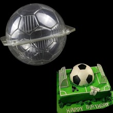 football shape plastic chocolate mold polycarbonate Chocolate Molds candy pastry tools soccer ball cake Decorating
