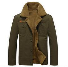 Winter Jacket Men Military Outerwear Tactical Air Force Pilot Bomber Jackets Mens Fur Collar jeans Coats 5XL jaqueta masculino