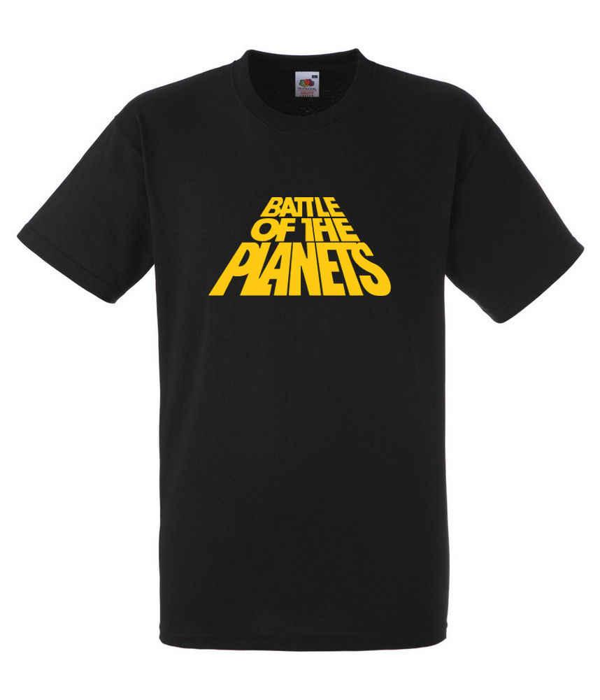 Battle of The Planets ข้อความสีเหลืองเสื้อยืดขนาด # สีดำของขวัญพิมพ์เสื้อยืด Hip Hop Tee เสื้อ, 2019 hot tees