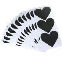 172pcs Heart Pattern Chalkboard Label Stickers Wall Kitchen Cup Bottle Decor Sticky Decal Gift+1 White Liquid Chalk Marker