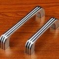 8 unids 128mm Cromo Moderno Gabinete de Cocina Del Cajón Tiradores de Puerta Del Armario Tiradores Hardware Armario Perilla de La Puerta Corredera