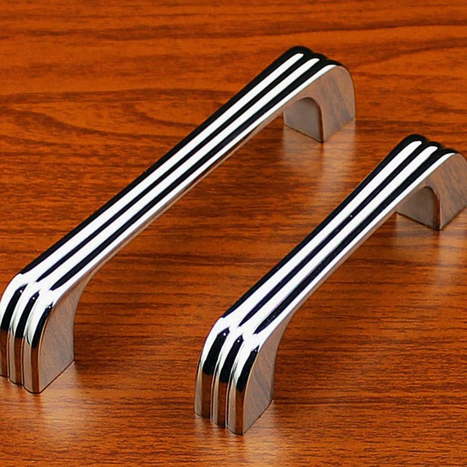 8pcs 128mm chrome modern cabinet kitchen drawer handles door pull closet knobs sliding cupboard hardware door