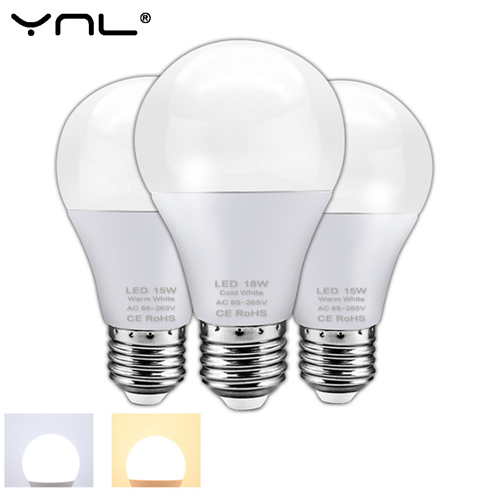 LED Bulb Lamp E27 AC 220V Light Bulb 3W 6W 9W 12W 15W 18W Ampoule Lampada LED Bombillas Lamparas LED Spotlight Table Lamp Home