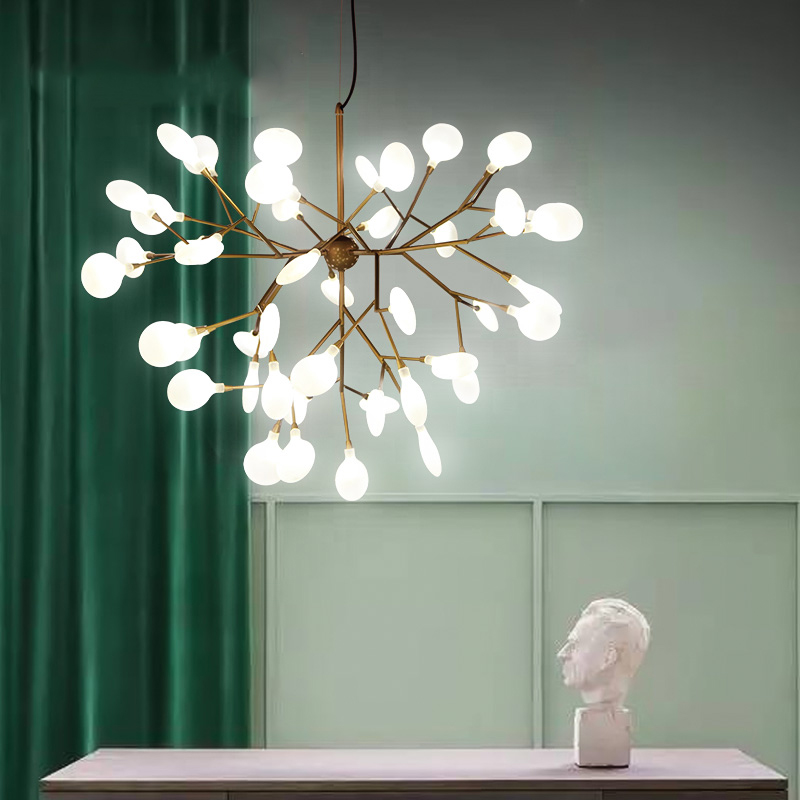 Cherry Blossom Led Lamp Tree Branches Fireflies Pendant