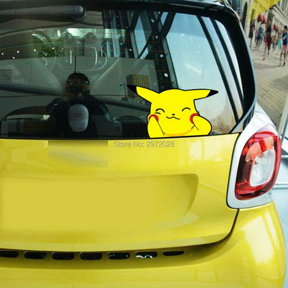 Car Styling Lovely Cartoon Animal Pet Pikachu Pokemon Sticker Decals for Toyota Peugeot Fiesta Opel Chevrolet VW Ford Lada Honda