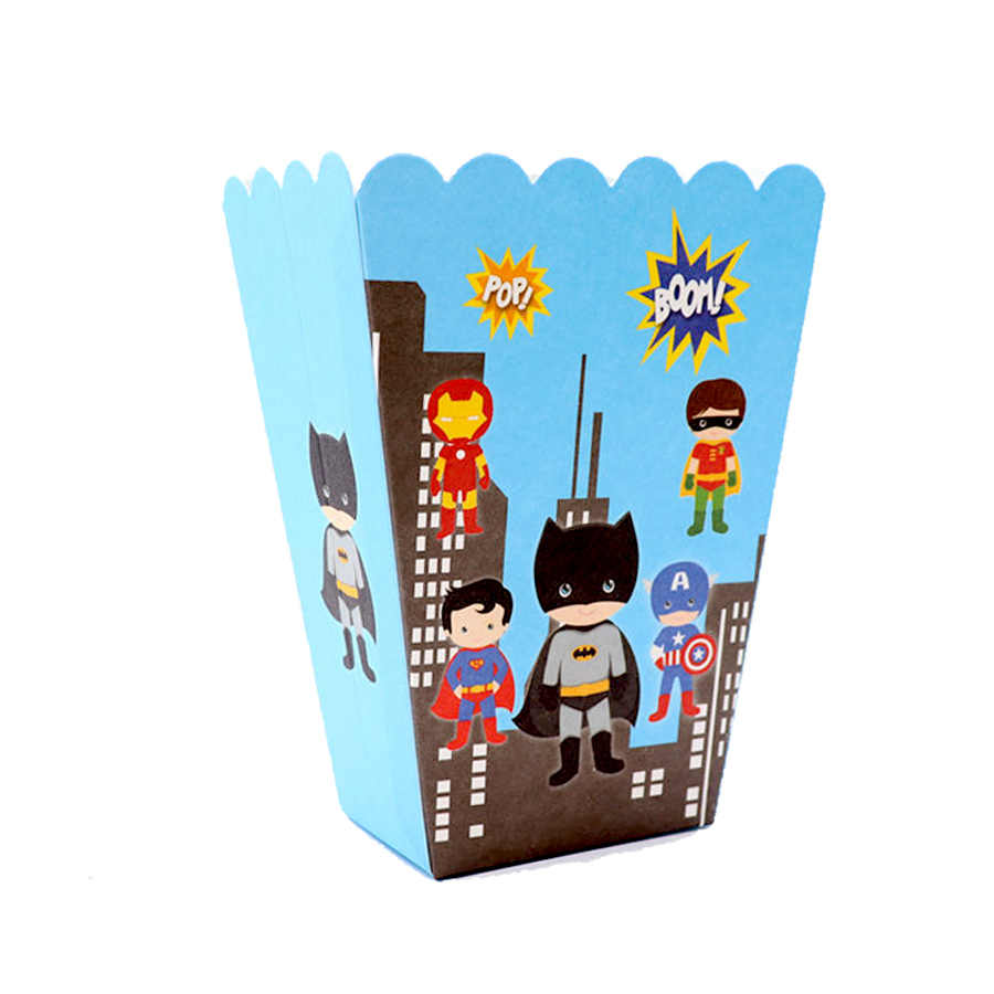 Baru Sekali Pakai Set Peralatan Makan Piring Kertas Karton Batman Pesta Ulang Tahun Bayi Shower Anak Perlengkapan Pesta