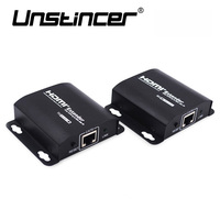 UNSTINCER HDMI Extender 60M RJ45 Transmitter TX RX With IR Over CAT6 Ethernet Cable Support HDMI